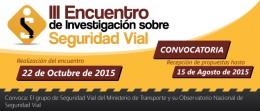 Tercer Encuentro de Investigación sobre Seguridad Vial
